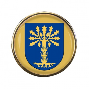 Blekinge (Sweden) Round Pin Badge