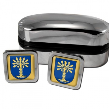 Blekinge Sweden Square Cufflinks