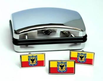 Bogota (Colombia) Flag Cufflink and Tie Pin Set