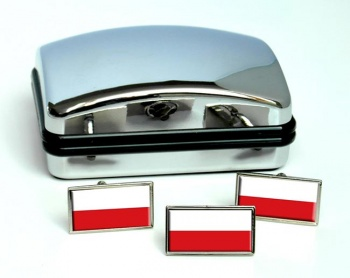 Bohemia  (Czech) Flag Cufflink and Tie Pin Set