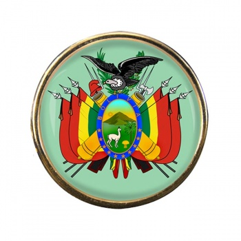 Bolivia Round Pin Badge