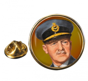 Sir Arthur ''Bomber'' Harris Round Pin Badge