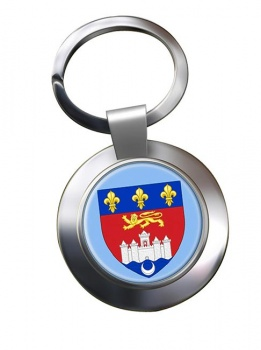Bordeaux (France) Metal Key Ring