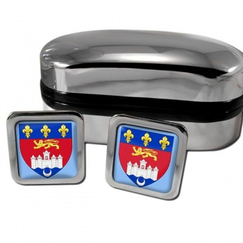 Bordeaux France Square Cufflinks