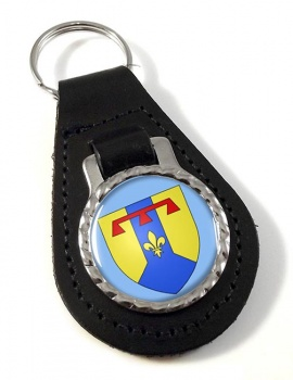 Bouches-du-Rhone (France) Leather Key Fob