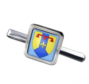 Bouches-du-Rhone (France) Square Tie Clip