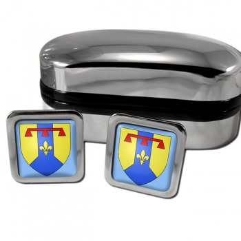 Bouches-du-Rhone France Square Cufflinks