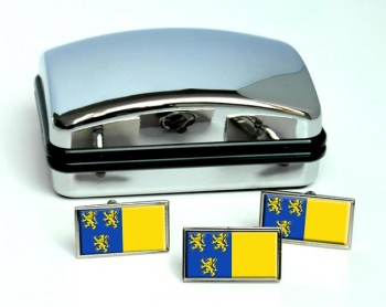 Braine-l'Alleud (Belgium) Flag Cufflink and Tie Pin Set
