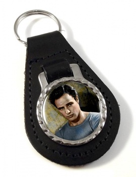 Marlon Brando Leather Key Fob