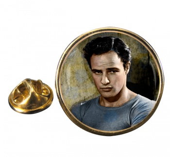 Marlon Brando Round Pin Badge