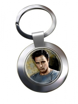 Marlon Brando Chrome Key Ring