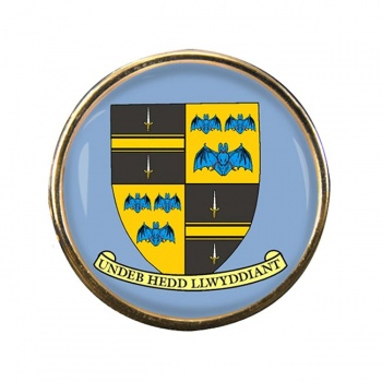 Brecknockshire Breconshire Round Pin Badge