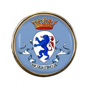 Brescia (Italy) Round Pin Badge
