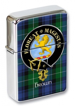 Brown Scottish Clan Flip Top Lighter