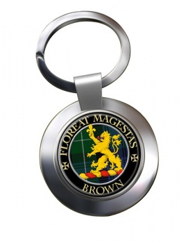 Brown Scottish Clan Chrome Key Ring