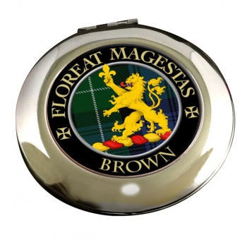 Brown Scottish Clan Chrome Mirror