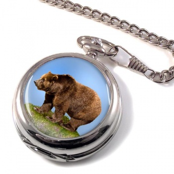 Brown Bear Pocket Watch