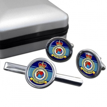 Bruggen Round Cufflink and Tie Clip Set