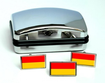 Burgenland Flag Cufflink and Tie Pin Set