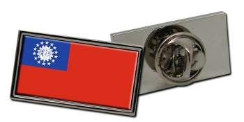 Burma Myanmar pre-2010 Flag Pin Badge