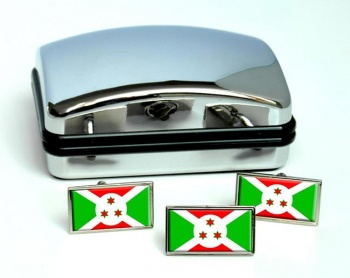 Burundi Flag Cufflink and Tie Pin Set