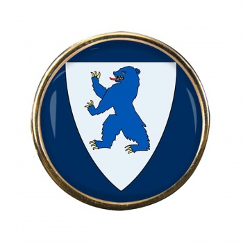 Buskerud (Norway) Round Pin Badge