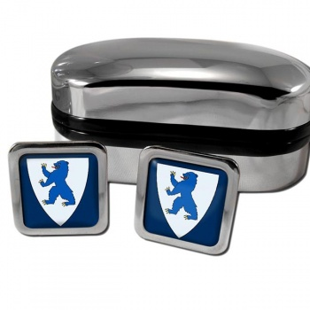 Buskerud Norway Square Cufflinks