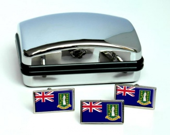 British Virgin Islands Flag Cufflink and Tie Pin Set