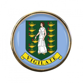 British Virgin Islands Round Pin Badge