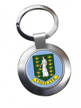 British Virgin Islands Metal Key Ring