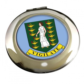 British Virgin Islands Round Mirror