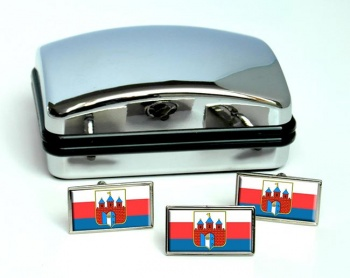 Bydgoszcz (Poland) Flag Cufflink and Tie Pin Set