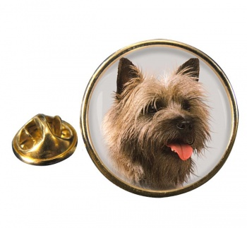 Cairn Terrier Round Pin Badge