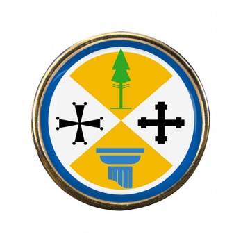 Calabria (Italy) Round Pin Badge