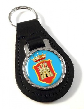 Caltanissetta (Italy) Leather Key Fob