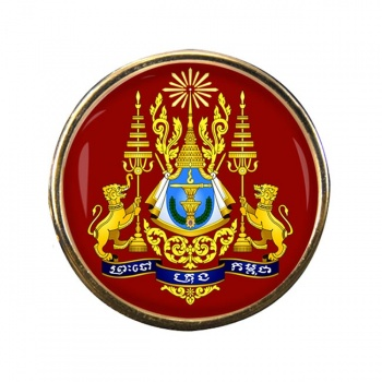 Cambodia Round Pin Badge