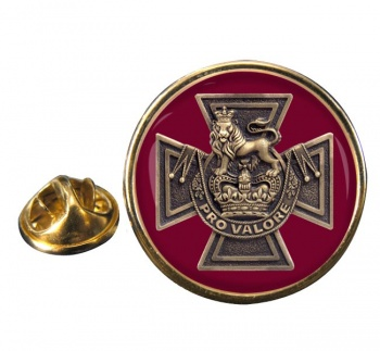 Canadian Victoria Cross Round Pin Badge