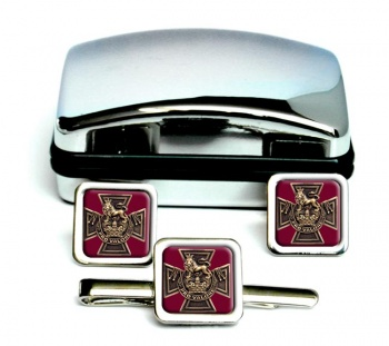 Canadian Victoria Cross Square Cufflink and Tie Clip Set