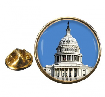 The Capitol Round Pin Badge