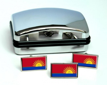 Carabobo (Venezuela) Flag Cufflink and Tie Pin Set