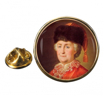 Catherine the Great Round Pin Badge