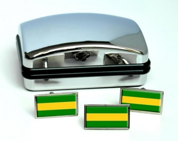 Cauca (Colombia) Flag Cufflink and Tie Pin Set
