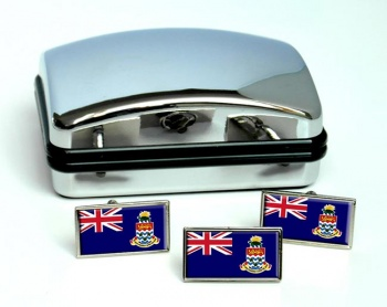 Cayman Islands Flag Cufflink and Tie Pin Set