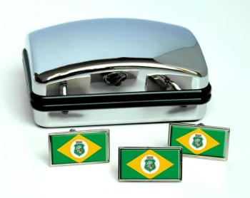 Ceara (Brasil) Flag Cufflink and Tie Pin Set