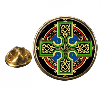 Celtic Cross Lapel Pin Badge