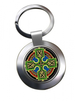 Celtic Cross Chrome Key Ring
