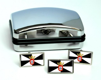 Ceuta (Spain) Flag Cufflink and Tie Pin Set