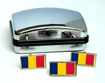 Chad Tchad Flag Cufflink and Tie Pin Set