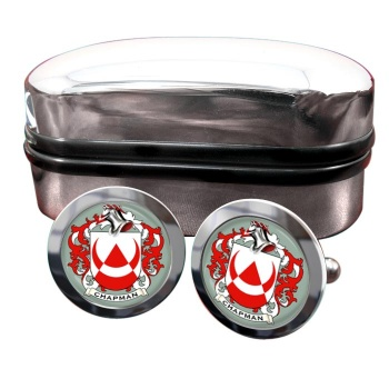 Chapman Coat of Arms Round Cufflinks