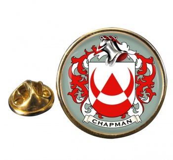 Chapman Coat of Arms Round Pin Badge